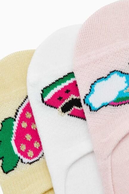 Pop Art Pattern Kids Invisible Socks - Thumbnail