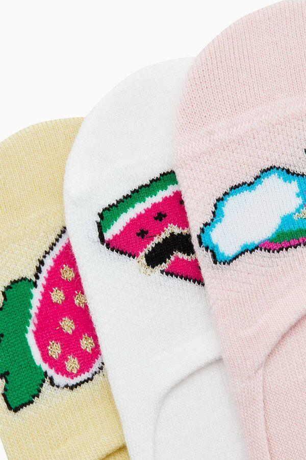 Pop Art Pattern Kids Invisible Socks