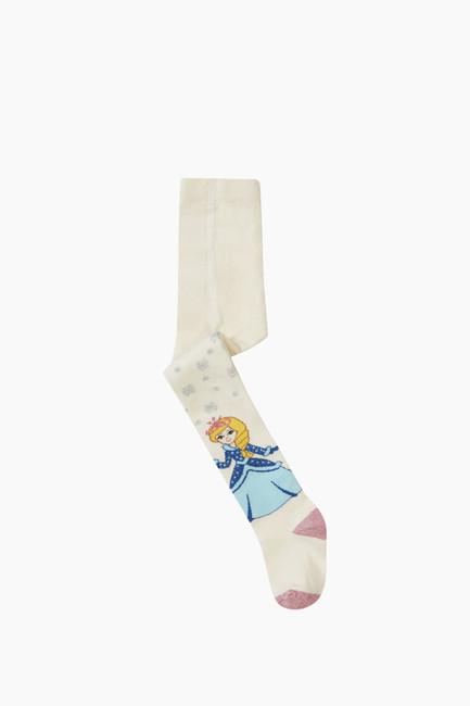 Bross - Prenses Desenli Külotlu Çocuk Çorabı