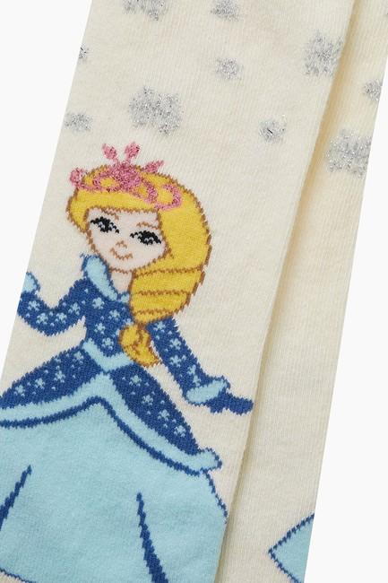 Prenses Desenli Külotlu Çocuk Çorabı - Thumbnail