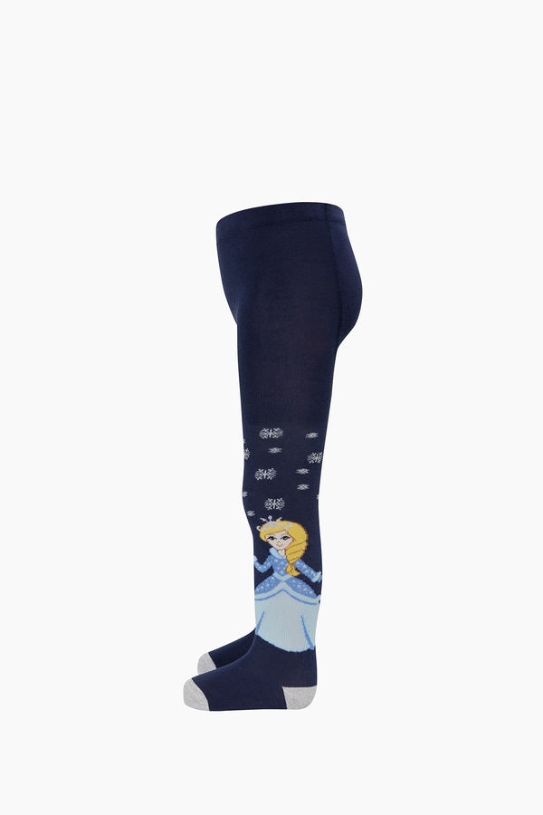 Prenses Desenli Külotlu Çocuk Çorabı