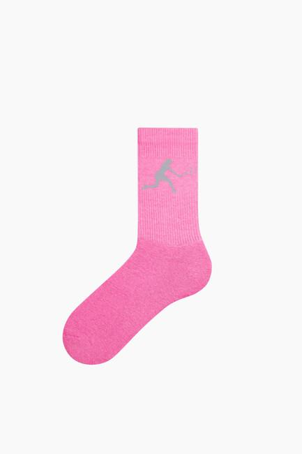 Bross - Reflektör Baskılı Tenis Çorabı