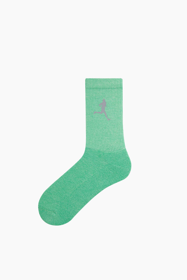 Reflektör Baskılı Tenis Çorabı