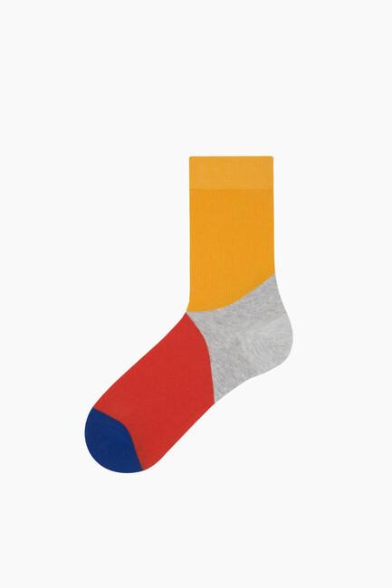 Bross - Bross Renk Bloklu Erkek Çorabı