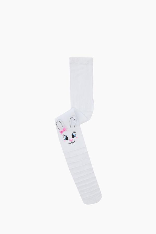 Ringed Rabbit Pattern Thin Kids tights