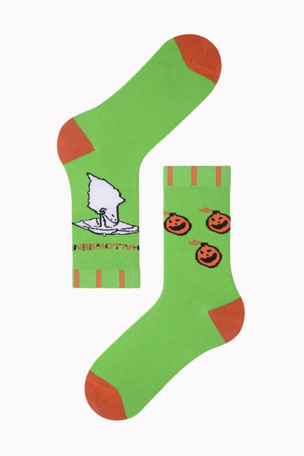 Bross - Şemsiyeli Hayalet Desenli Halloween Çorabı