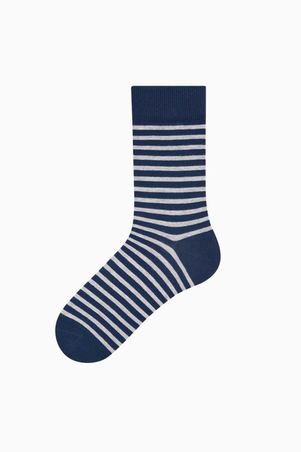 Sevgili Kombini Kalp Desenli Çift Çorabı - Thumbnail