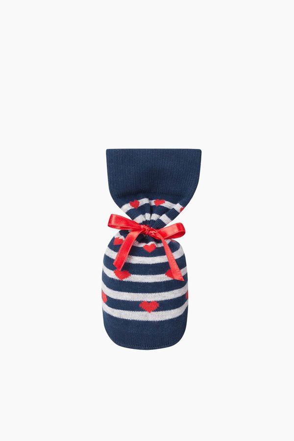 Sevgili Kombini Kalp Desenli Çift Çorabı
