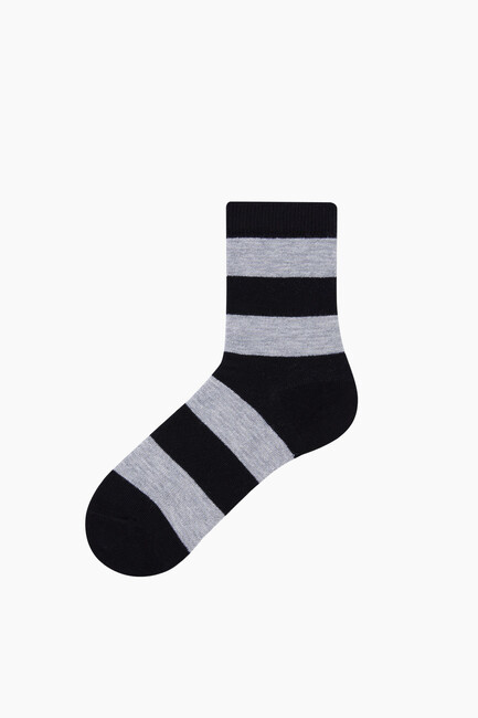 Silvery Lined Kids Socks - Thumbnail