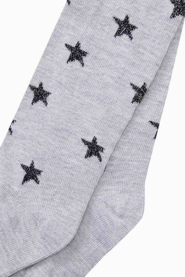 Silvery Star Pattern Kids Tights