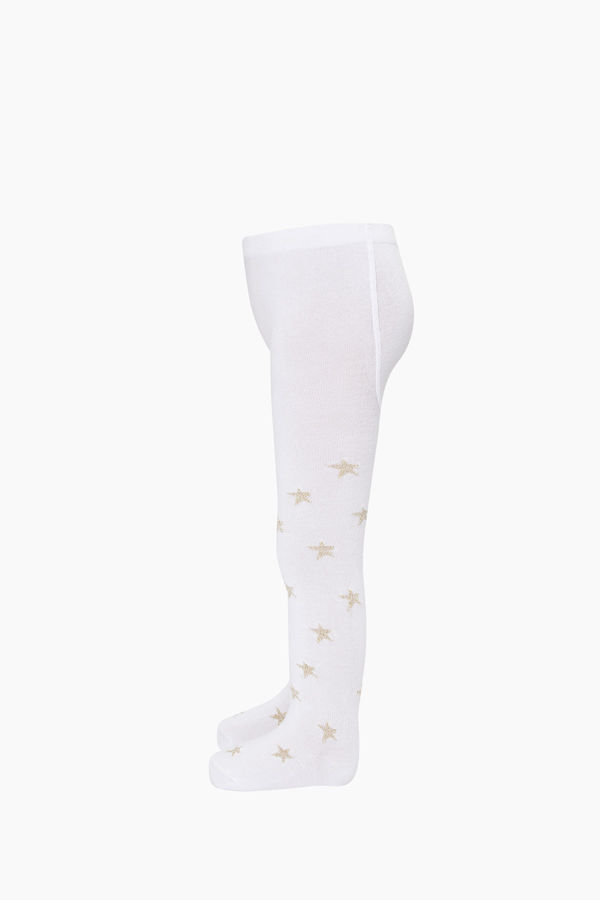 Silvery Star Pattern Kids Tights