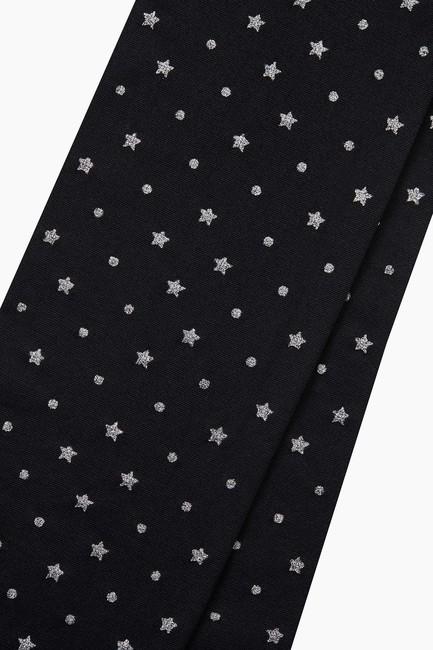 Silvery Star Pattern Thin Kids Tights - Thumbnail