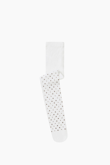 Bross - Silvery Star Pattern Thin Kids Tights