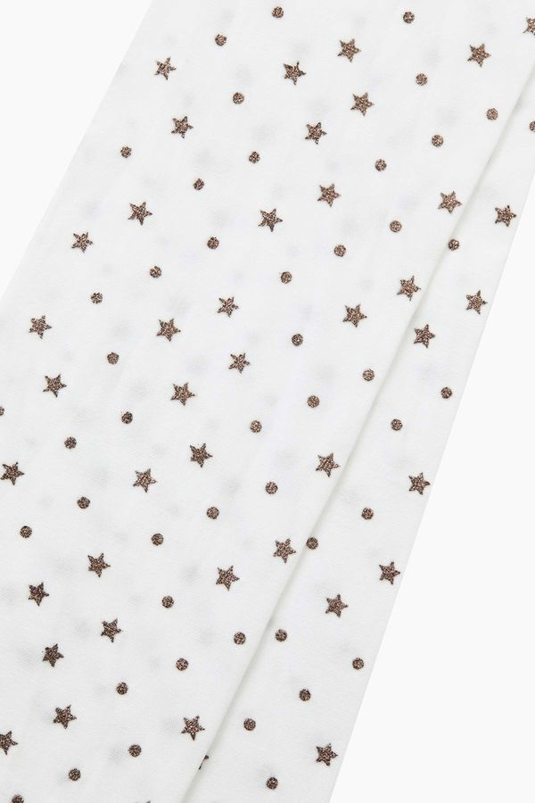 Silvery Star Pattern Thin Kids Tights