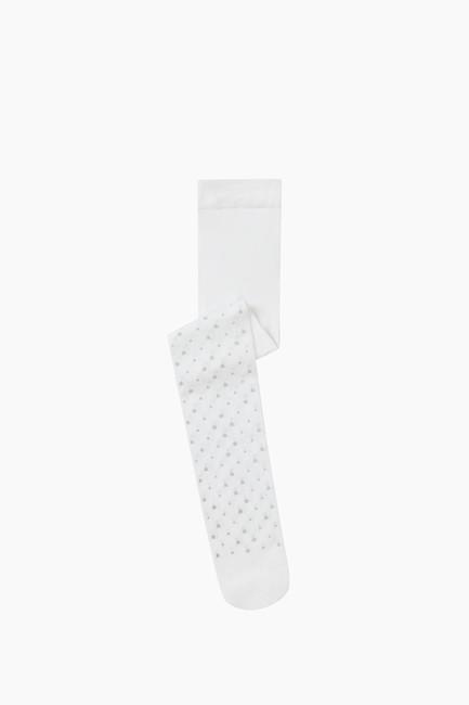 Bross - Simli Yıldız Desenli İnce Külotlu Çocuk Çorabı