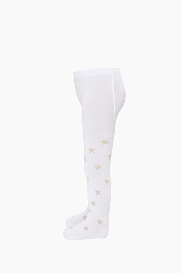 Simli Yıldız Desenli Külotlu Çocuk Çorabı
