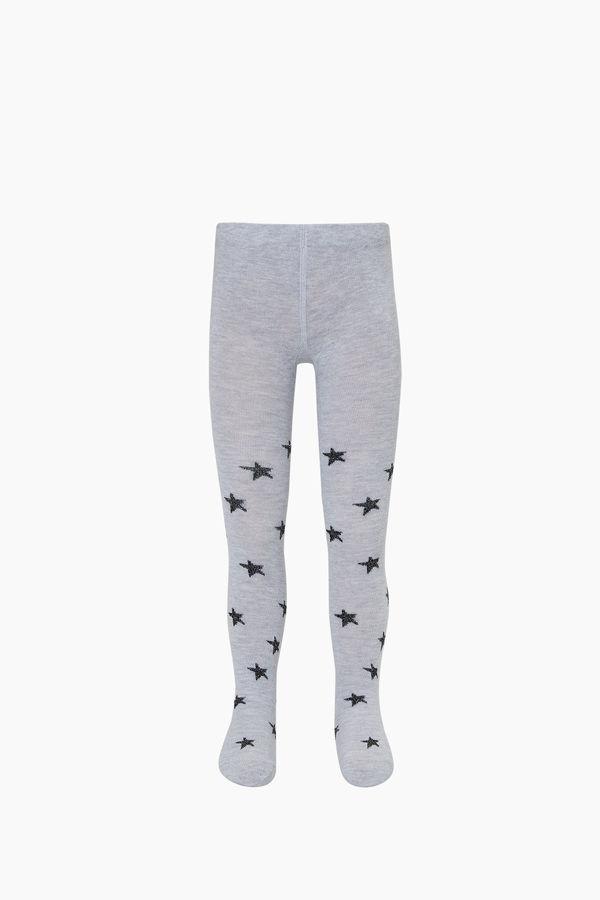 Bross Simli Yıldız Desenli Külotlu Çocuk Çorabı