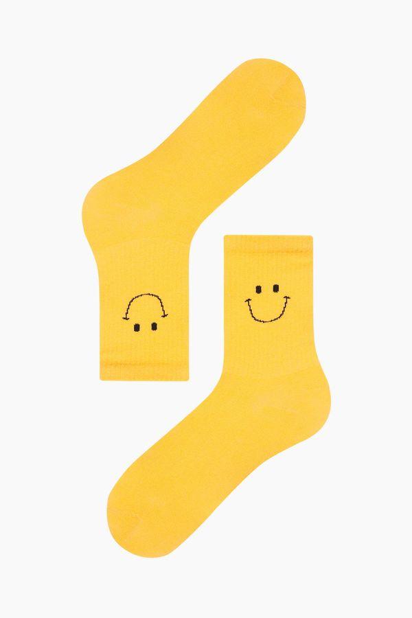 Smıle Desenli Erkek Çorabı