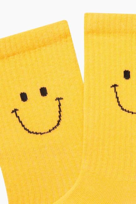 Smıle Desenli Erkek Çorabı - Thumbnail