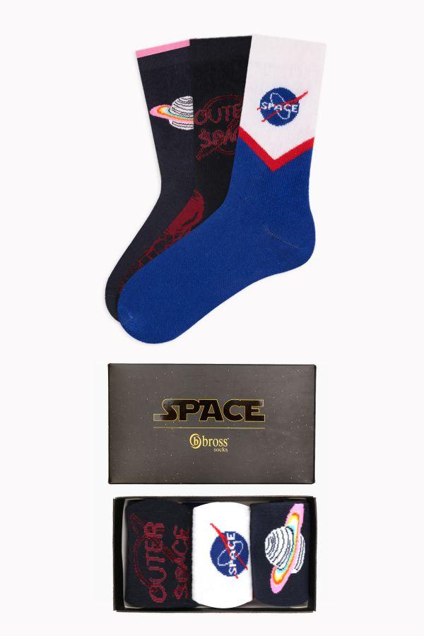 Space Collection Kutulu 3'lü Kadın Çorabı 2