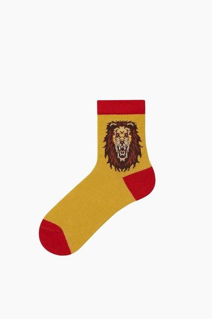 Taraftar Desenli Çocuk Çorabı - Thumbnail