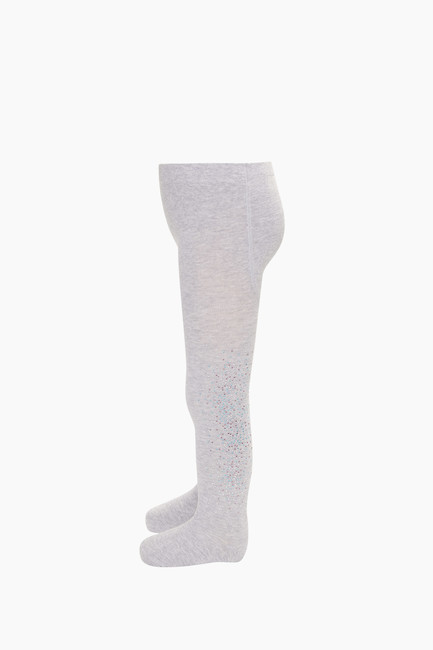 Taş Baskılı Çocuk Külotlu Çorap - Thumbnail