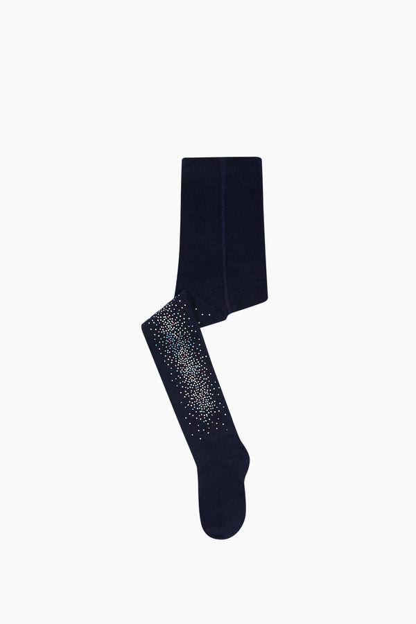 Taş Baskılı Çocuk Külotlu Çorap