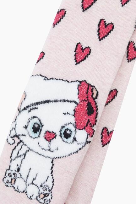 Bross Miniş Kedi Havlu Külotlu Bebek Çorabı - Thumbnail