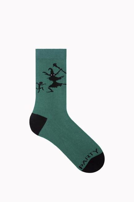 Bross Tonight We Fly Yazılı Halloween Çorabı - Thumbnail