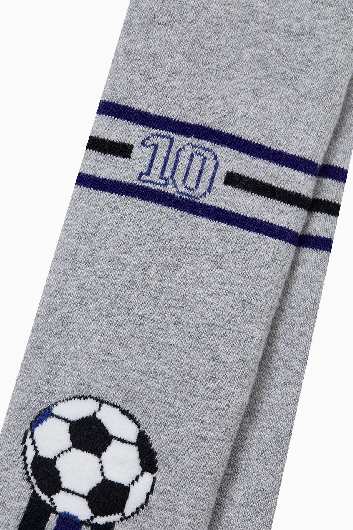 Top Desenli Havlu Külotlu Çocuk Çorabı - Thumbnail