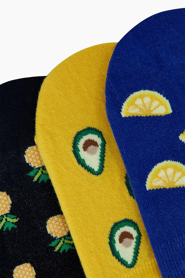 Trio of Fruit Patterned Men's Ballet Socks