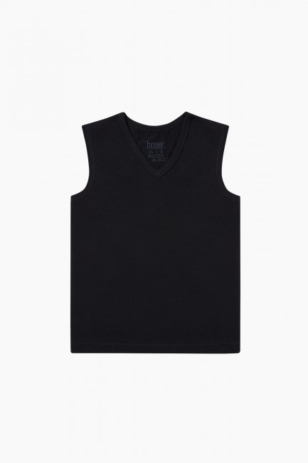 Bross - V-Neck Zero Sleeve Kid's Flannel