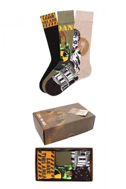 Bross - Virus Collection Kutulu 3'lü Yetişkin Çorabı 1