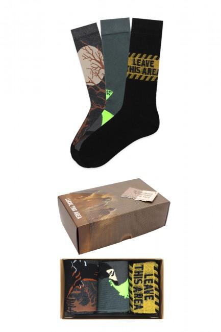 Bross - Virus Collection Kutulu 3'lü Yetişkin Çorabı 2