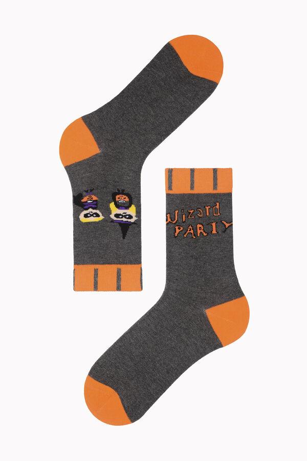 Bross Wizard Party Yazılı Halloween Çorabı