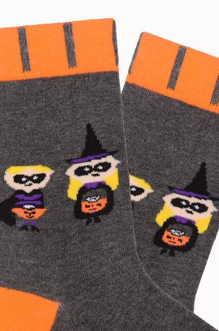Bross Wizard Party Yazılı Halloween Çorabı - Thumbnail