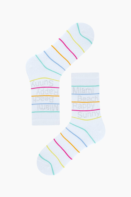 Bross Stone Printed Women's Socks - Thumbnail