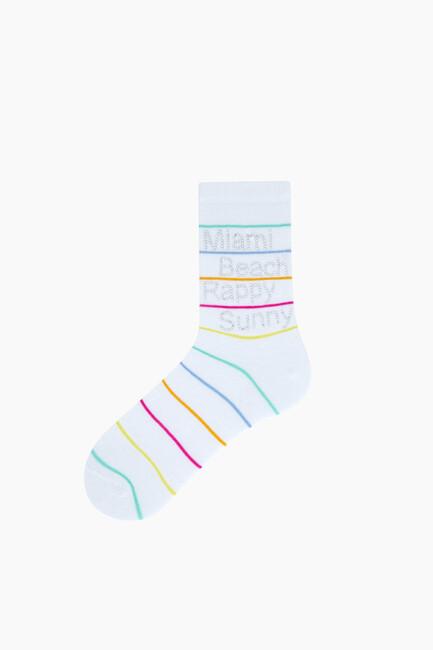 Bross - Yazılı Taş Baskılı Kadın Çorabı