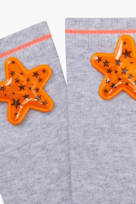 Bross Yıldız Aksesuarlı Çocuk Çorabı - Thumbnail