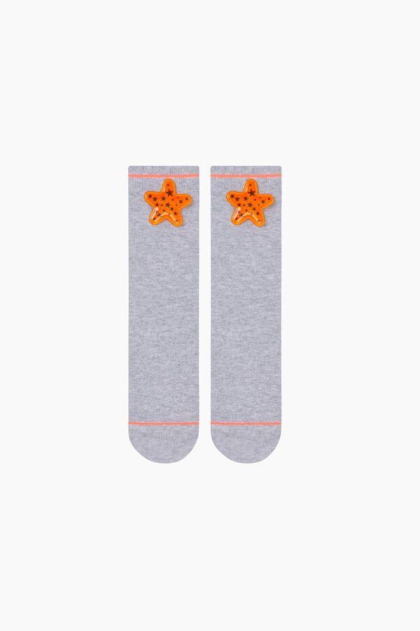 Bross Yıldız Aksesuarlı Çocuk Çorabı