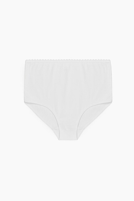 Bross - High Waist Ornamental Lace Panties